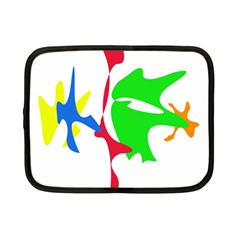Colorful Amoeba Abstraction Netbook Case (small)  by Valentinaart