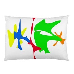 Colorful Amoeba Abstraction Pillow Case by Valentinaart