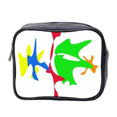 Colorful Amoeba Abstraction Mini Toiletries Bag 2 Side by Valentinaart