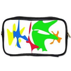 Colorful Amoeba Abstraction Toiletries Bags by Valentinaart