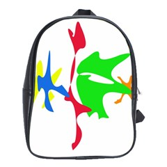 Colorful Amoeba Abstraction School Bags (xl)  by Valentinaart
