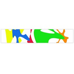Colorful Amoeba Abstraction Flano Scarf (large) by Valentinaart