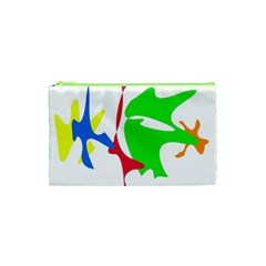 Colorful Amoeba Abstraction Cosmetic Bag (xs) by Valentinaart