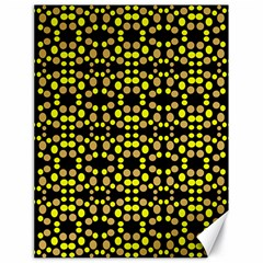 Dots Pattern Yellow Canvas 18  X 24   by BrightVibesDesign