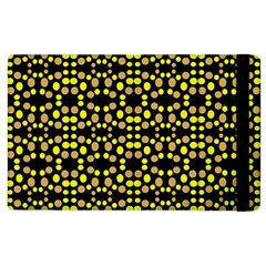 Dots Pattern Yellow Apple Ipad 2 Flip Case by BrightVibesDesign
