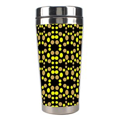 Dots Pattern Yellow Stainless Steel Travel Tumblers by BrightVibesDesign