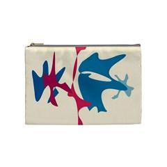 Decorative Amoeba Abstraction Cosmetic Bag (medium)  by Valentinaart