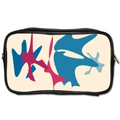 Decorative Amoeba Abstraction Toiletries Bags 2 Side by Valentinaart