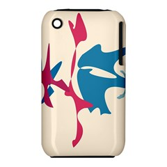 Decorative Amoeba Abstraction Apple Iphone 3g/3gs Hardshell Case (pc+silicone) by Valentinaart