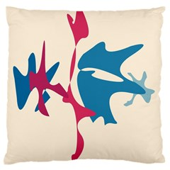 Decorative amoeba abstraction Large Flano Cushion Case (Two Sides) by Valentinaart