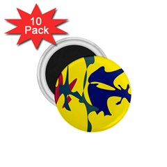 Yellow Amoeba Abstraction 1 75  Magnets (10 Pack)  by Valentinaart