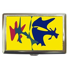 Yellow amoeba abstraction Cigarette Money Cases by Valentinaart