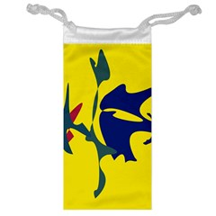 Yellow Amoeba Abstraction Jewelry Bags by Valentinaart