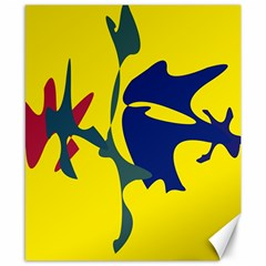 Yellow Amoeba Abstraction Canvas 8  X 10  by Valentinaart