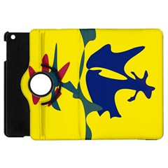 Yellow amoeba abstraction Apple iPad Mini Flip 360 Case