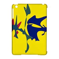 Yellow Amoeba Abstraction Apple Ipad Mini Hardshell Case (compatible With Smart Cover) by Valentinaart