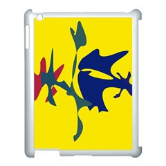 Yellow Amoeba Abstraction Apple Ipad 3/4 Case (white) by Valentinaart