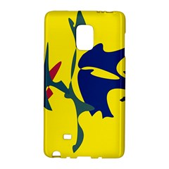 Yellow Amoeba Abstraction Galaxy Note Edge by Valentinaart