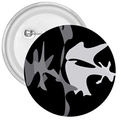 Black And White Amoeba Abstraction 3  Buttons by Valentinaart
