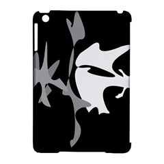 Black And White Amoeba Abstraction Apple Ipad Mini Hardshell Case (compatible With Smart Cover) by Valentinaart