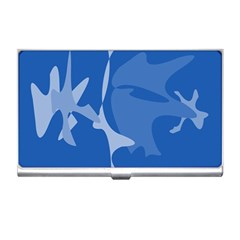 Blue Amoeba Abstraction Business Card Holders by Valentinaart