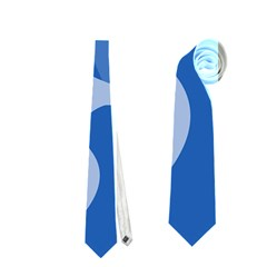 Blue amoeba abstraction Neckties (Two Side)  by Valentinaart