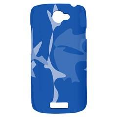 Blue amoeba abstraction HTC One S Hardshell Case