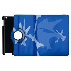 Blue Amoeba Abstraction Apple Ipad 3/4 Flip 360 Case by Valentinaart