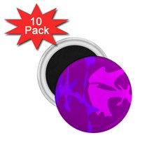 Purple, Pink And Magenta Amoeba Abstraction 1 75  Magnets (10 Pack)  by Valentinaart