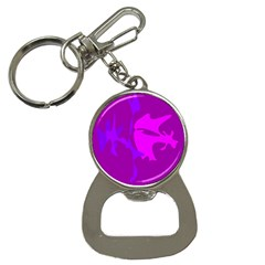 Purple, Pink And Magenta Amoeba Abstraction Bottle Opener Key Chains by Valentinaart