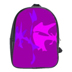 Purple, Pink And Magenta Amoeba Abstraction School Bags(large)  by Valentinaart