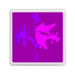 Purple, Pink And Magenta Amoeba Abstraction Memory Card Reader (square)  by Valentinaart