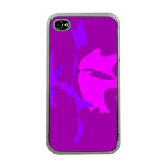 Purple, Pink And Magenta Amoeba Abstraction Apple Iphone 4 Case (clear) by Valentinaart