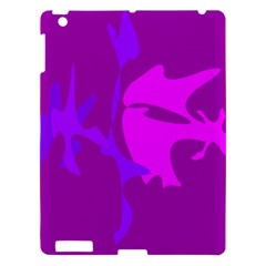 Purple, Pink And Magenta Amoeba Abstraction Apple Ipad 3/4 Hardshell Case by Valentinaart