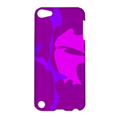 Purple, Pink And Magenta Amoeba Abstraction Apple Ipod Touch 5 Hardshell Case by Valentinaart