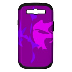 Purple, Pink And Magenta Amoeba Abstraction Samsung Galaxy S Iii Hardshell Case (pc+silicone) by Valentinaart