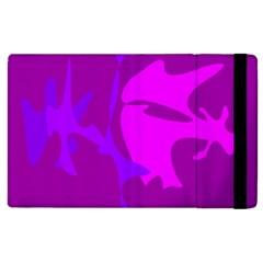 Purple, Pink And Magenta Amoeba Abstraction Apple Ipad 2 Flip Case