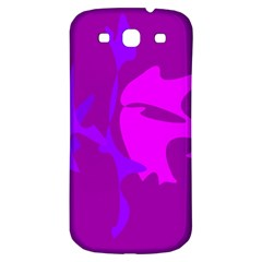 Purple, Pink And Magenta Amoeba Abstraction Samsung Galaxy S3 S Iii Classic Hardshell Back Case by Valentinaart
