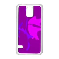 Purple, Pink And Magenta Amoeba Abstraction Samsung Galaxy S5 Case (white) by Valentinaart
