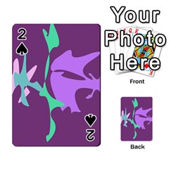 Purple Amoeba Abstraction Playing Cards 54 Designs  by Valentinaart