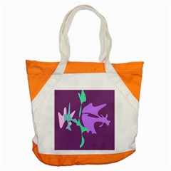Purple Amoeba Abstraction Accent Tote Bag by Valentinaart
