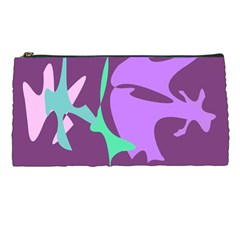 Purple Amoeba Abstraction Pencil Cases by Valentinaart