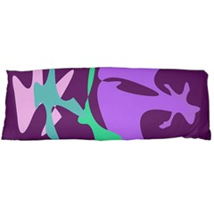 Purple amoeba abstraction Body Pillow Case (Dakimakura) by Valentinaart