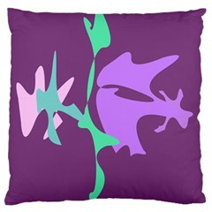 Purple Amoeba Abstraction Standard Flano Cushion Case (one Side) by Valentinaart