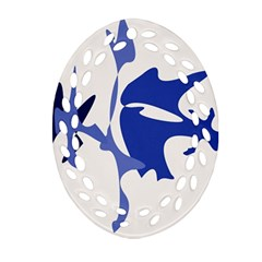 Blue Amoeba Abstract Ornament (oval Filigree)  by Valentinaart