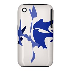 Blue Amoeba Abstract Apple Iphone 3g/3gs Hardshell Case (pc+silicone) by Valentinaart
