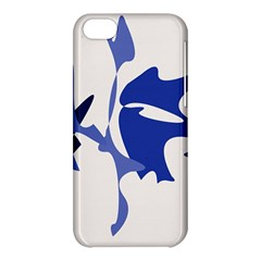 Blue Amoeba Abstract Apple Iphone 5c Hardshell Case by Valentinaart