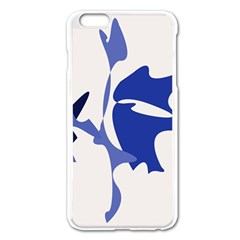 Blue Amoeba Abstract Apple Iphone 6 Plus/6s Plus Enamel White Case by Valentinaart