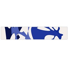 Blue Amoeba Abstract Flano Scarf (large) by Valentinaart