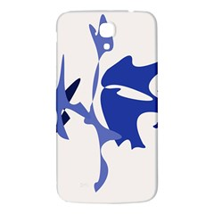 Blue Amoeba Abstract Samsung Galaxy Mega I9200 Hardshell Back Case by Valentinaart